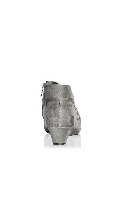 Luann Pleated Size Zip Bootie - gray