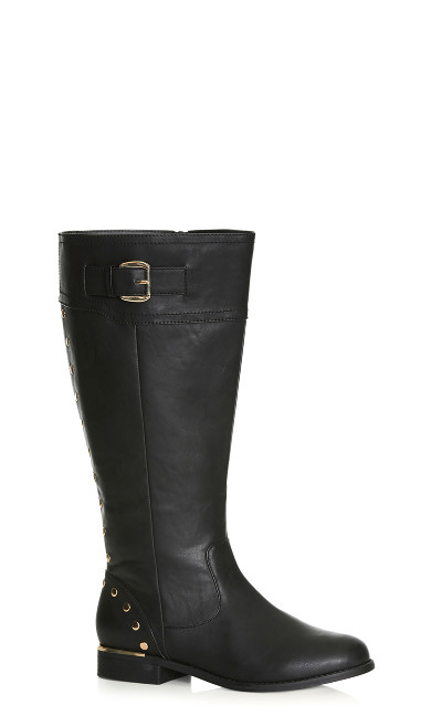 Plus Size Jenny Tall Boot - black
