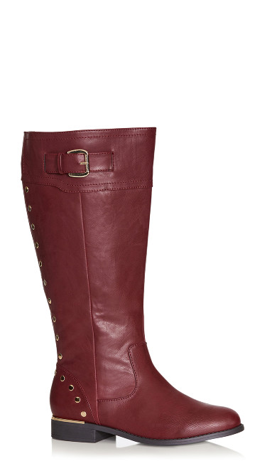 Plus Size Jenny Tall Boot - wine