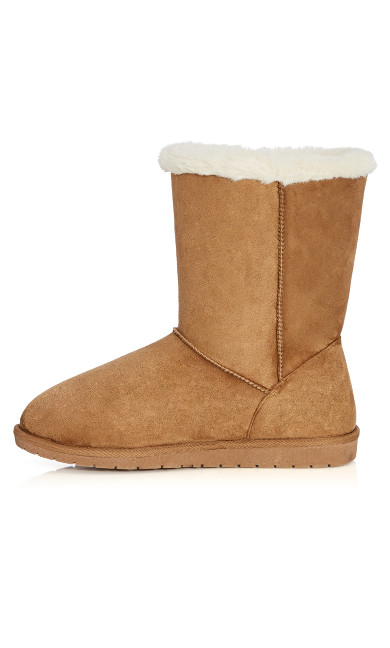Zoey Faux Fur Lined Suede Boot - tan