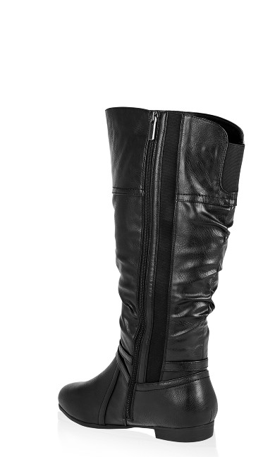 Chelsea Ruched Tall Boot - black