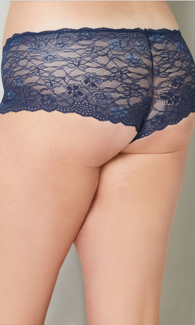 Navy Lace Cheeky Panty