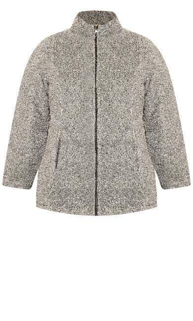 Quilted Fleece Reversible Jacket - black