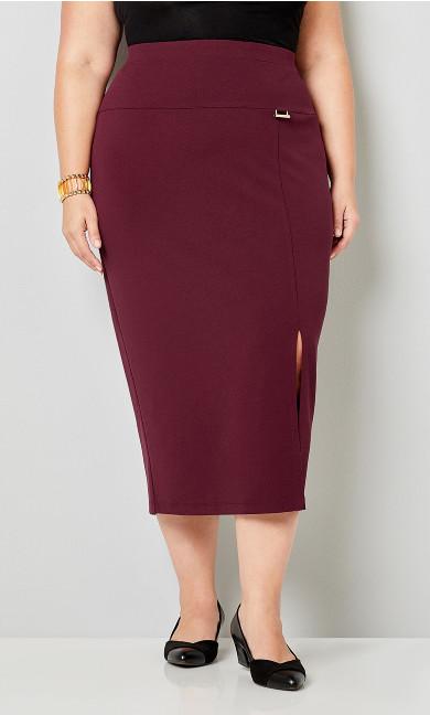 Scuba Crepe Midi Skirt
