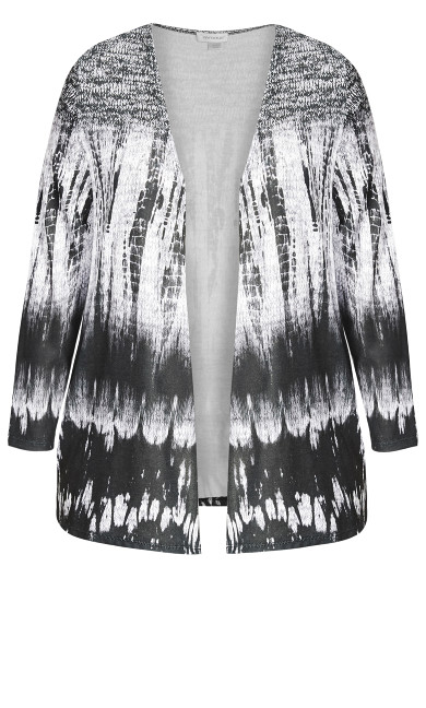 Mono Brushstroke Overpiece - black print