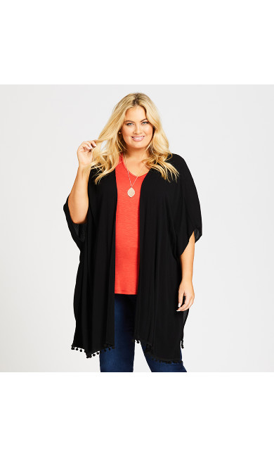 Plus Size Bilbao Kimono - black