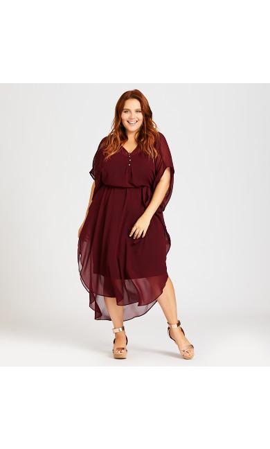 Plus Size Summer Love Kaftan - cherry