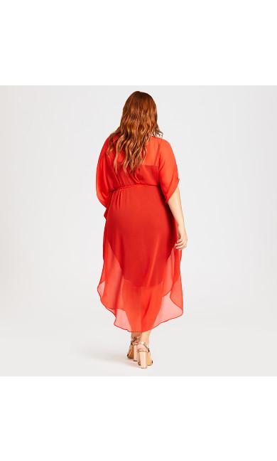 Summer Love Kaftan - red