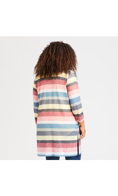 Rainbow Stripe Duster - deep