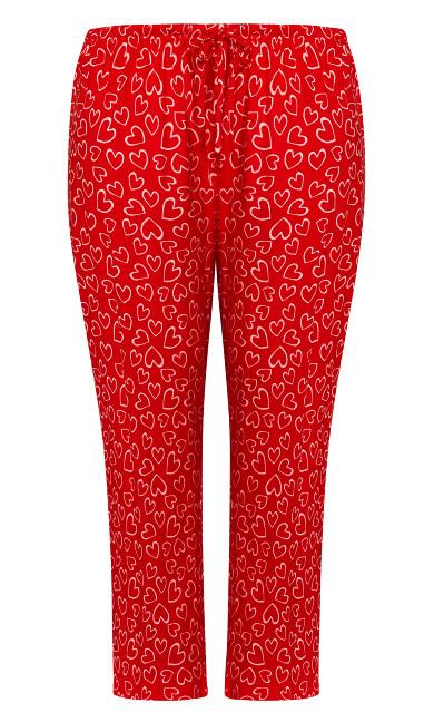Print Sleep Pant - red heart