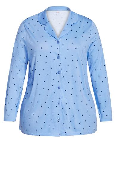 Button Star Sleep Top - blue