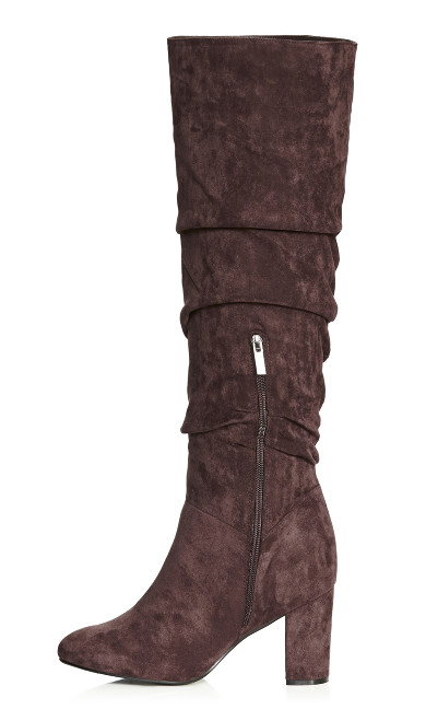 Petra Knee High Boot - mocha