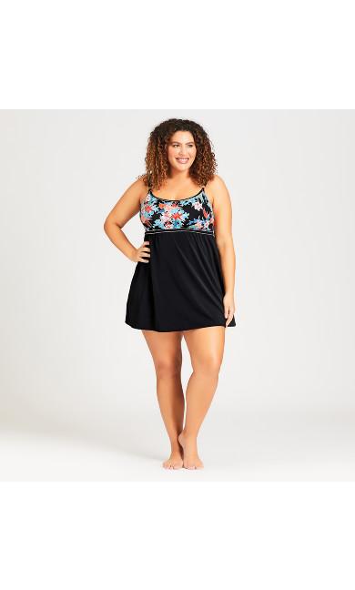 Margot Swim Dress - black