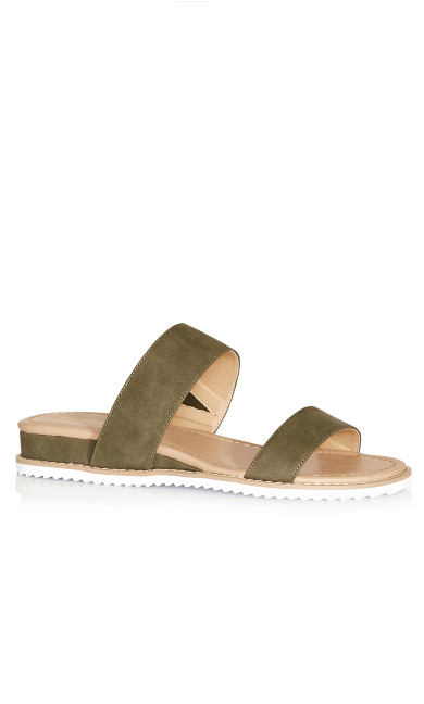 Plus Size Deena Slip On Sandal - olive