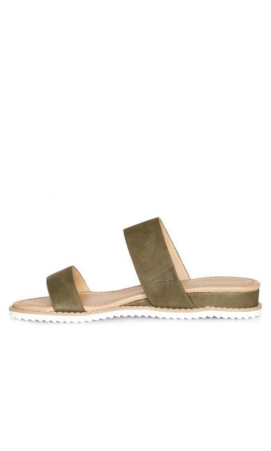 Deena Slip On Sandal - olive