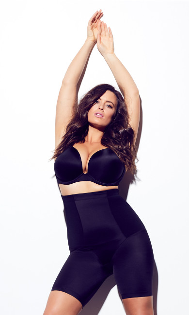 Plus Size Black Thigh Shaper