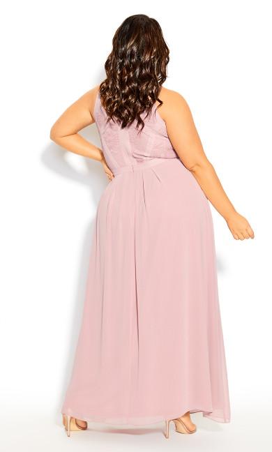 Panelled Bodice Maxi Dress - rose