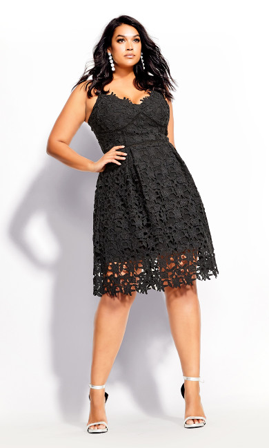 Women's Plus Size So Fancy Dress - black