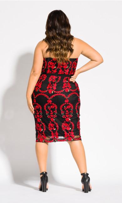 Dolce Rose Sheath Dress - black