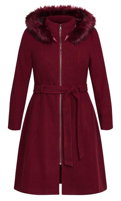 Miss Mysterious Coat - cherry