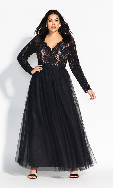 Women's Plus Size Rare Beauty Maxi Dress - black