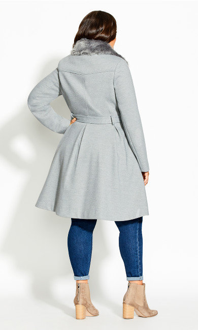 Blushing Belle Coat - silver