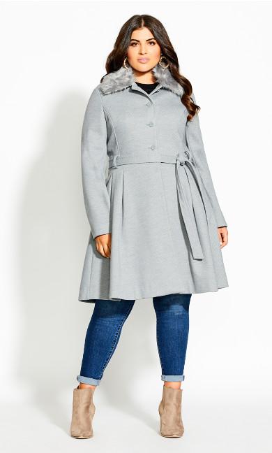 Women's Plus Size Blushing Belle Coat - silver