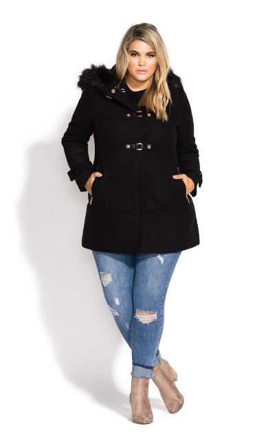 Women's Plus Size Wonderwall Coat - black