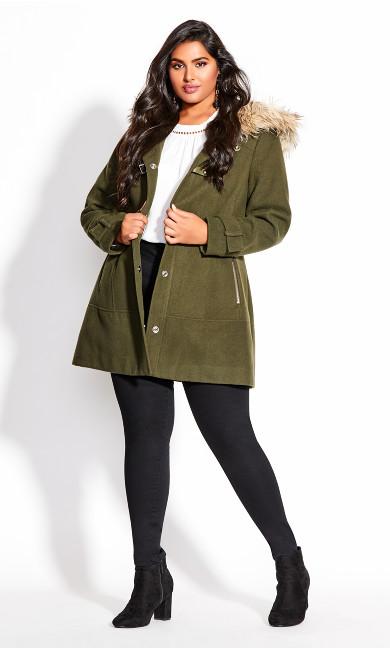 Women's Plus Size Wonderwall Coat - khaki