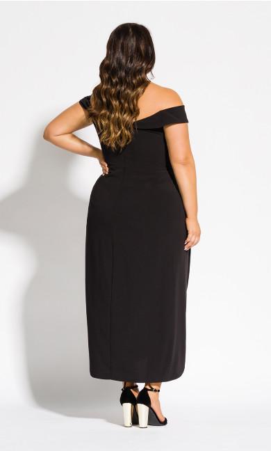 Rippled Love Dress - black