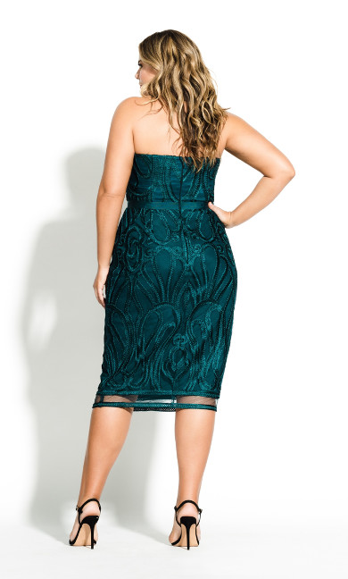 Antonia Dress - Emerald