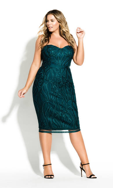 Women's Plus Size Antonia Dress - Emerald