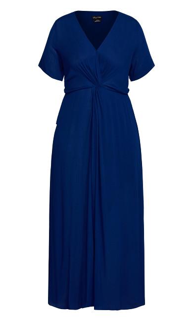 Knot Front Maxi Dress - sapphire