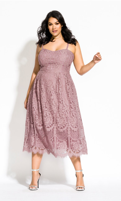Women's Plus Size Sweety Darling Dress - rose