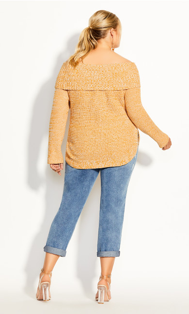 Scoop Me Up Sweater - gold