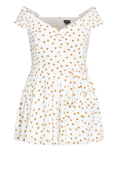 Golden Spot Playsuit - ivory