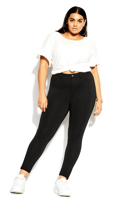 Plus Size Subtle Pant Legging - black