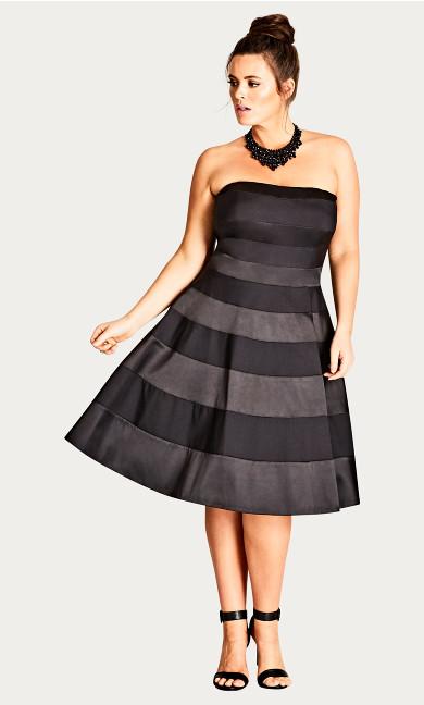 Miss Shady Fit & Flare Dress - black
