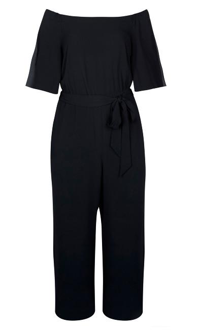 Off-Shoulder Jumpsuit - Black
