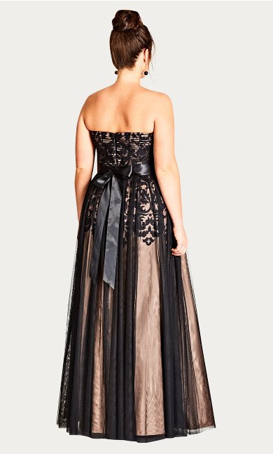 Embroidered Tulle Maxi Dress
