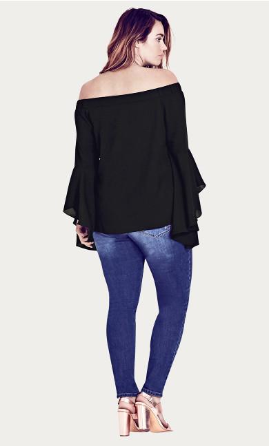 Romantic Sleeve Top - black