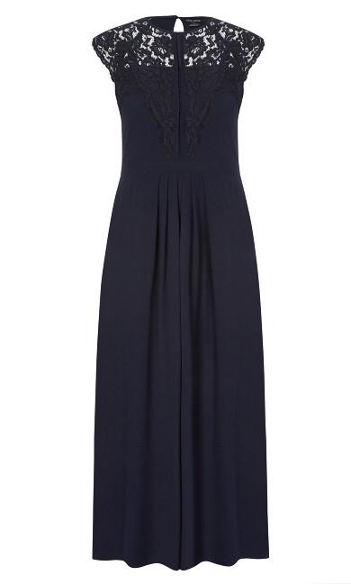 Lace Bodice Maxi Dress - Navy