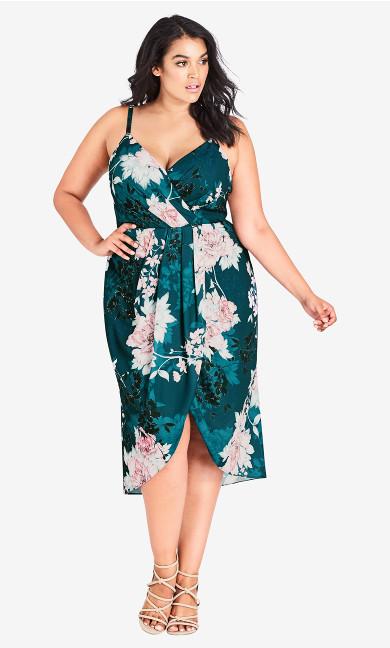 Women's Plus Size Jade Bloom Dress