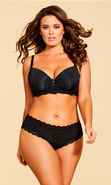Women's Plus Size Eye of the Tiger CT Bra - Black
