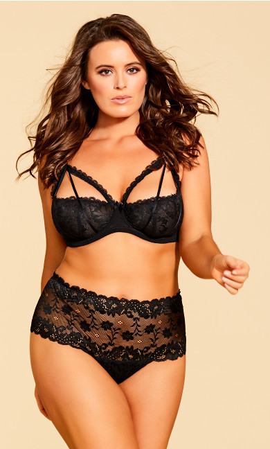 Women's Plus Size Eve Underwire Shelf Bra - Black