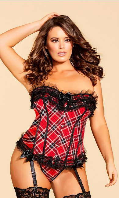 School Girl Corset - Red