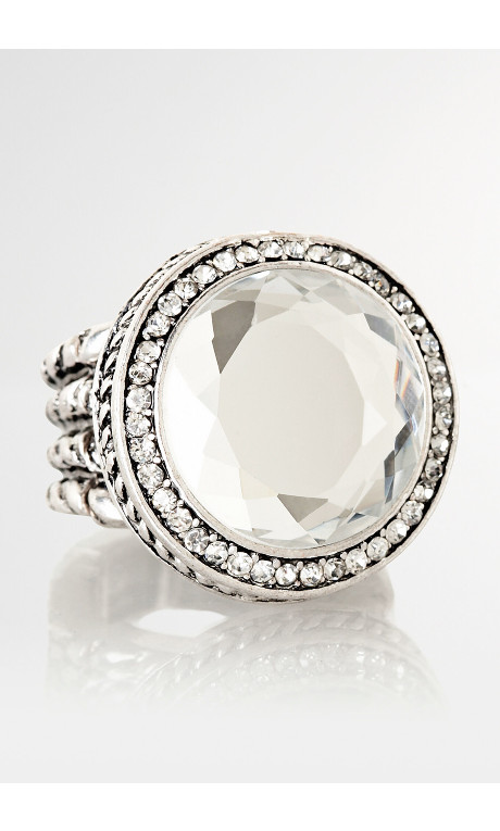 Pretty stretchable ring in various Gem stones one size fits all