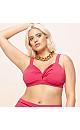 Pink Keyhole Bikini Top