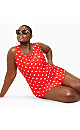 Polka Dot One Piece Swimsuit
