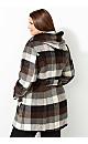 Plaid Hooded Walking Coat